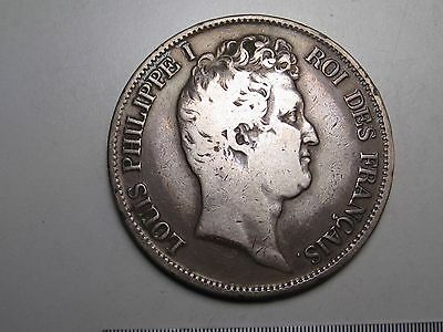 1831-W Silver 5 FRANCS. FRANCE. Loius Philippe I. Lille mint