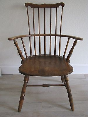Turn Of The Century Antique Wood Captains Chair