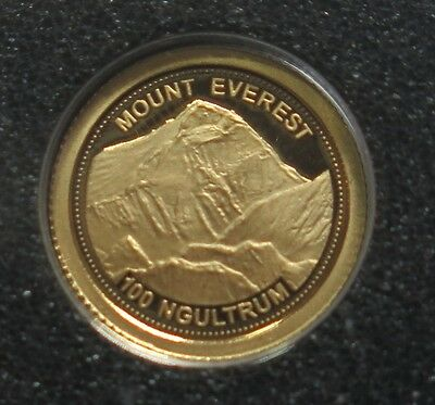 Bhutan - 2013 Mount Everest.. 100 Ngultrum -  Half Gram Gold Proof Coin
