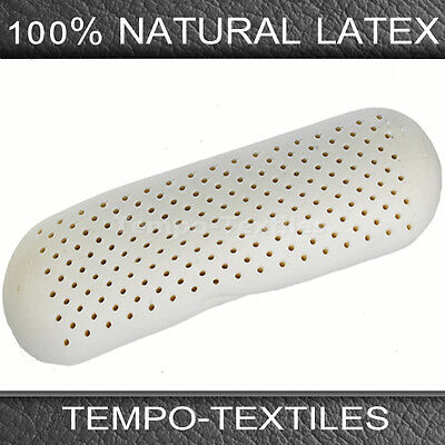 100% Natural Eco Latex Body Roll Neck Pillow with White Removable Polyester