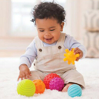 4/6Pcs Baby Kid Soft Massage Sensory Development Educational Ball Sound Toy UK