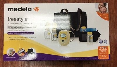 Medela Freestyle Deluxe Breastpump Set - Rechargeable - New & Factory Sealed(cw)