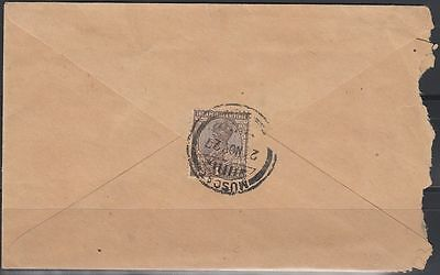 1927 LOCAL Cover MUSCAT OMAN, very scarce local usage [bl0206]