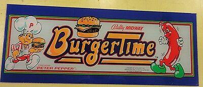 Burgertime Arcade Game Marquee on lexan