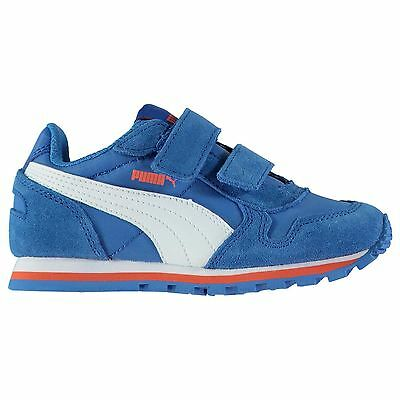 Puma Kids ST Runner NL Boys Trainers Shoes Padded Ankle Collar Hook and Loop