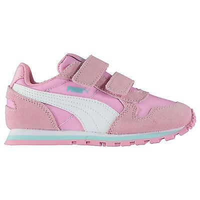 Puma Kids ST Runner NL Girls Trainers Shoes Padded Ankle Collar Hook and Loop