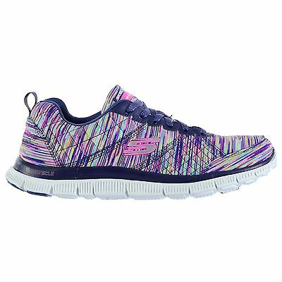 Skechers Womens Flex Appeal Whirl Wind Trainers Runners Lace Up Shoes Textile
