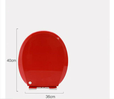 Red O-Shape Pattern Resin Bathroom Accessories Toilet Seat Toilet Cover #