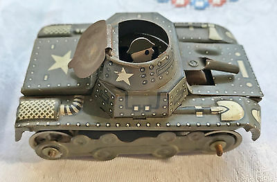 alter Blechpanzer * Blechspielzeug * Made in US Zone * Gama (?)