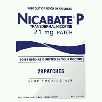NEW BOX NICABATE 21mg Anti Smoking Patch Stop Smoking Aid 28 Patches 08 19