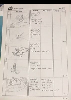 JAYCE AND THE WHEELED WARRIORS Original Animation Storyboard Art  Drawing DIC