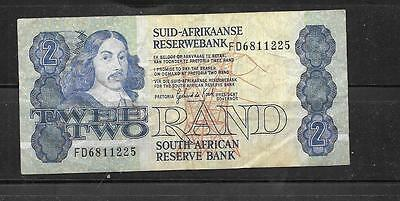 SOUTH AFRICA #118b 1981 VG CIRC 2 RAND OLD BANKNOTE PAPER MONEY CURRENCY NOTE