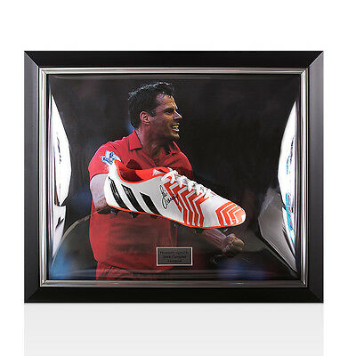 Framed Jamie Carragher Signed Football Boot - Liverpool Autograph Cleat