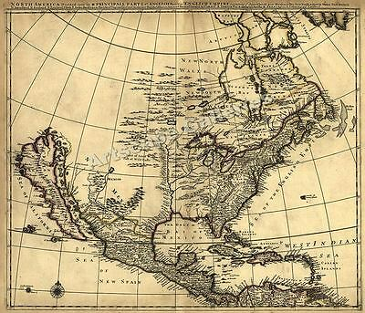 1685 Historic Map of Early North America - 20x24