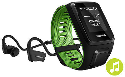 TomTom Runner 3 Music GPS Watch with Small Strap and Headphones