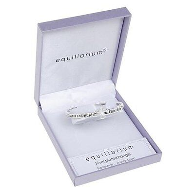 Equilibrium Silver Plated Guardian Angel Protect Abd Guide Bangle Bracelet 7101