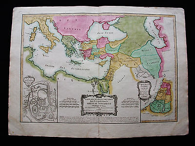 1787 LATTRE/ZANNONI - orig. map: North Africa, Italy, Tunisia, Middle East Lybia