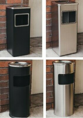 Metal Litter/rubbish Bin & Cigarette/smoking Ash Tray Outdoor Restaurant/pub New