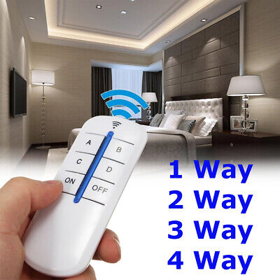 1/2/3/4 Ways ON/OFF 220V-240V Wireless Receiver Lamp Light Remote Control Switch