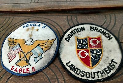 "UNK vintage USAF patch lot of 2. U.S. / Turkish joint operations? 4"" patches."
