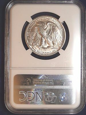 1947 D 50C Walking Liberty Half Dollar Ngc Ms64