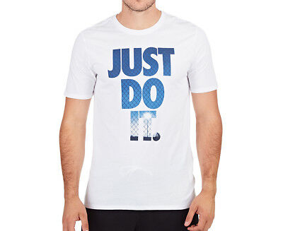 Nike Men's Just Do It Photo Tee - White/Photo Blue