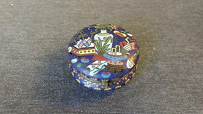 Very Fine Early 19th Cent Antique Chinese Cloisonne Round Covered Box