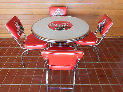 Coca-Cola Table & 4 Padded Chairs