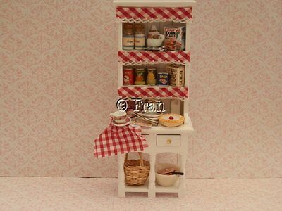 Dolls house food: 1/12th Busy country kitchen dresser   -By Fran
