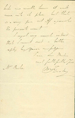 Michael Faraday - Autograph Letter Signed 5/9