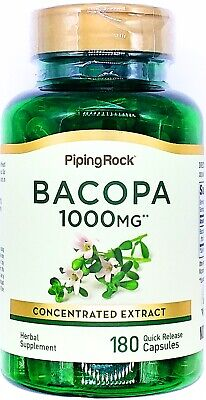 500mg Bacopa Monnieri Leaf 90 Capsules Memory Focus Support Extract Pill