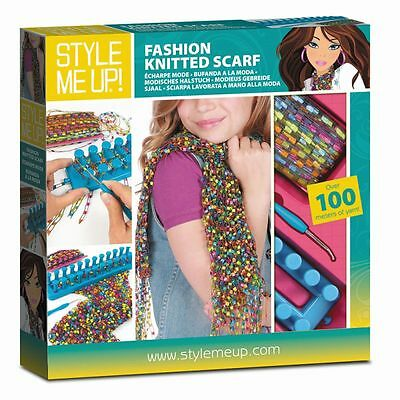 STYLE ME UP Fashion Knitted Scarf stricken lernen Kinder Spielzeug Set