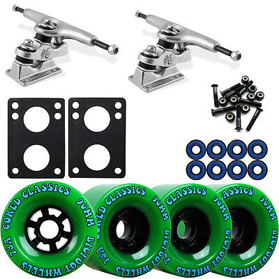 Gullwing Sidewinder Longboard Trucks Wheels Pack Bigfoot 90mm Cored Green