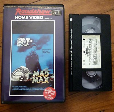 MAD MAX Roadshow Home Video Clamshell PAL VHS Mel Gibson