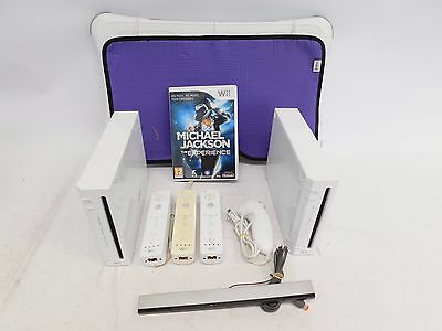 Nintendo Wii Console Bundle of 2 With Wii Fit Board Game And Controllers - H53
