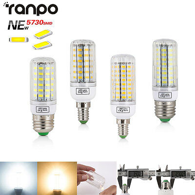 E27 E14 20W 30W 40W 60W 80W 5730 SMD Bright  LED Corn Bulb Lamps Light AC220V