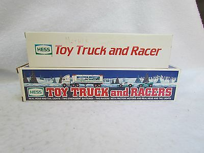 Lot of 2 Hess Trucks:  1988 and 1997 Toy Truck and Racer/Racers
