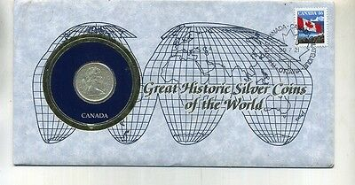 Canada 1967 Silver Quarter Coin And Stamp Cover