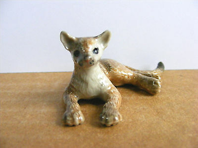 Northern Rose Retired Mountain Lion Cub Miniature Animal Figurine Cougar