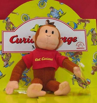 12 Pcs FULL RETAIL DISPLAY BOX Applause CLASSIC CURIOUS GEORGE Plush Monkey 8508