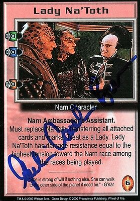 BABYLON 5 CCG Julie Caitlin Brown WHEEL OF FIRE Lady Na'Toth AUTOGRAPHED