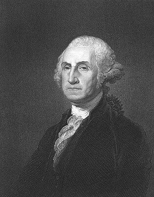 President Revolutionary War General GEORGE WASHINGTON ~ 1832 Art Print Engraving