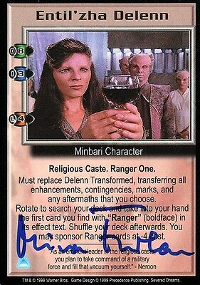BABYLON 5 CCG Mira Furlan SEVERED DREAMS Entil'zha Delenn AUTOGRAPHED