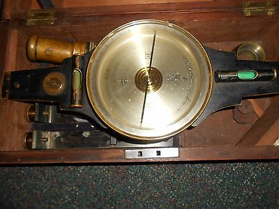 W & L.E. GURLEY SURVEYORS COMPASS, With Box