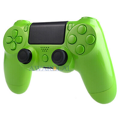 CUSTOMIZED FULL HOUSING Shell Buttons Mod Kits for PS4 Controller Glossy  Green