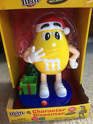 M&M's Yellow Peanut Character Musical Christmas Milk Chocolate Candy Dispenser