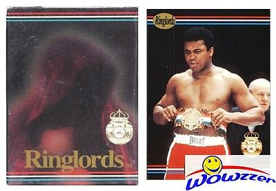 (50)1991 Ringlords Boxing Factory Sealed 50 Card Sets-4 GREATEST Muhammad Ali !