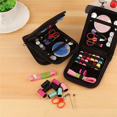 Thread Threader Needle Tape Measure Scissor Sewing Set Kit For Home Travel Q