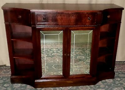 MAHOGANY CREDENZA BUFFET SIDEBOARD With Concealed Desk VINTAGE
