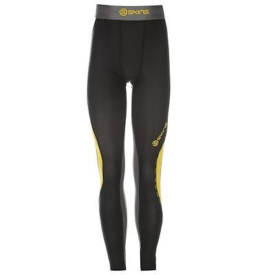 Skins Kids DNAmic Tights Junior Boys Running Baselayer Bottoms Sport Clothing